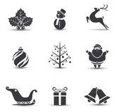vektorové vánoční ikony.