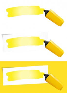Yellow Felt Tip Pen