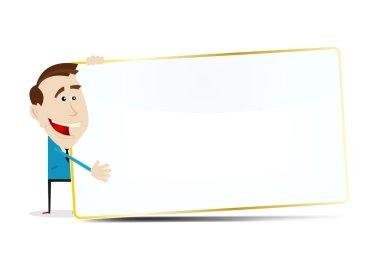 Cartoon Businessman Sign
