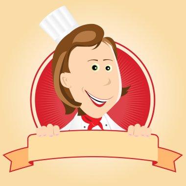 Food Banner - Chef Woman