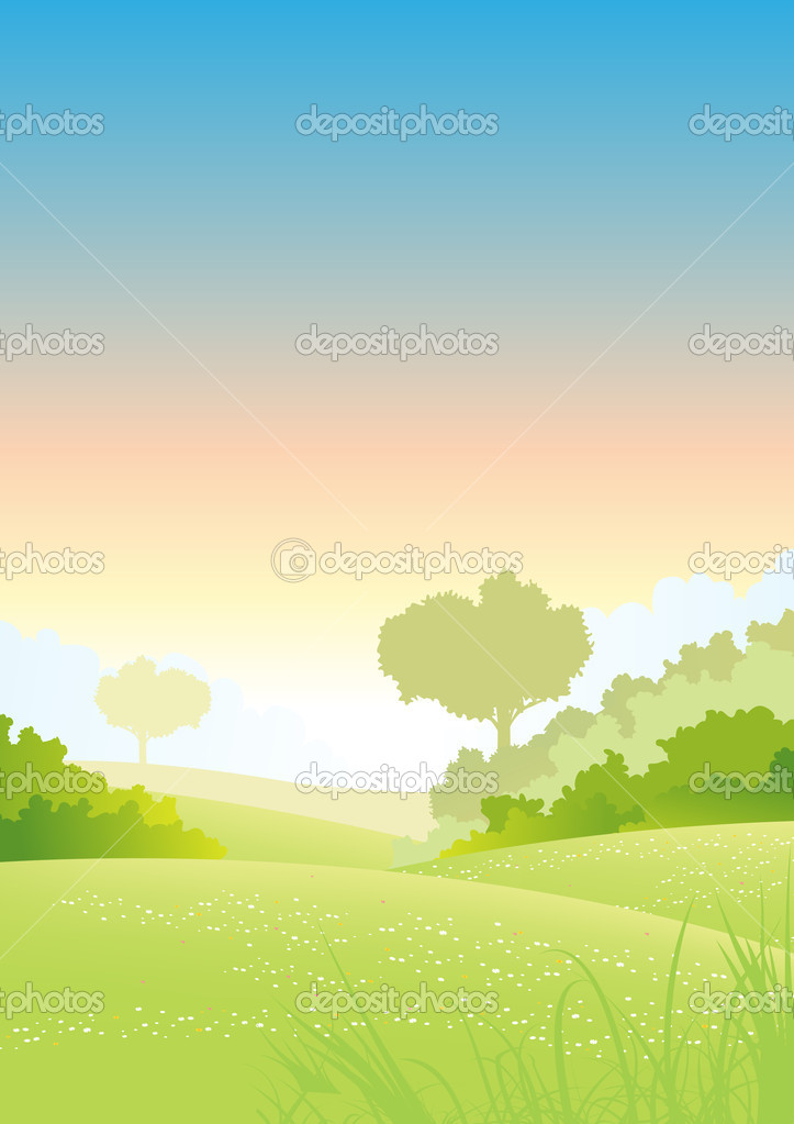 Summer Or Spring Morning Seasons Poster