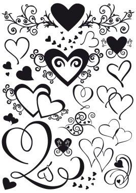 Mixed shape hearts