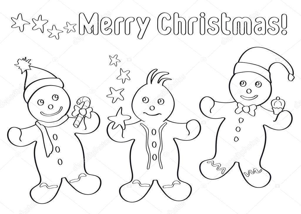 jengibre de Navidad para niños — Archivo Imágenes Vectoriales ...