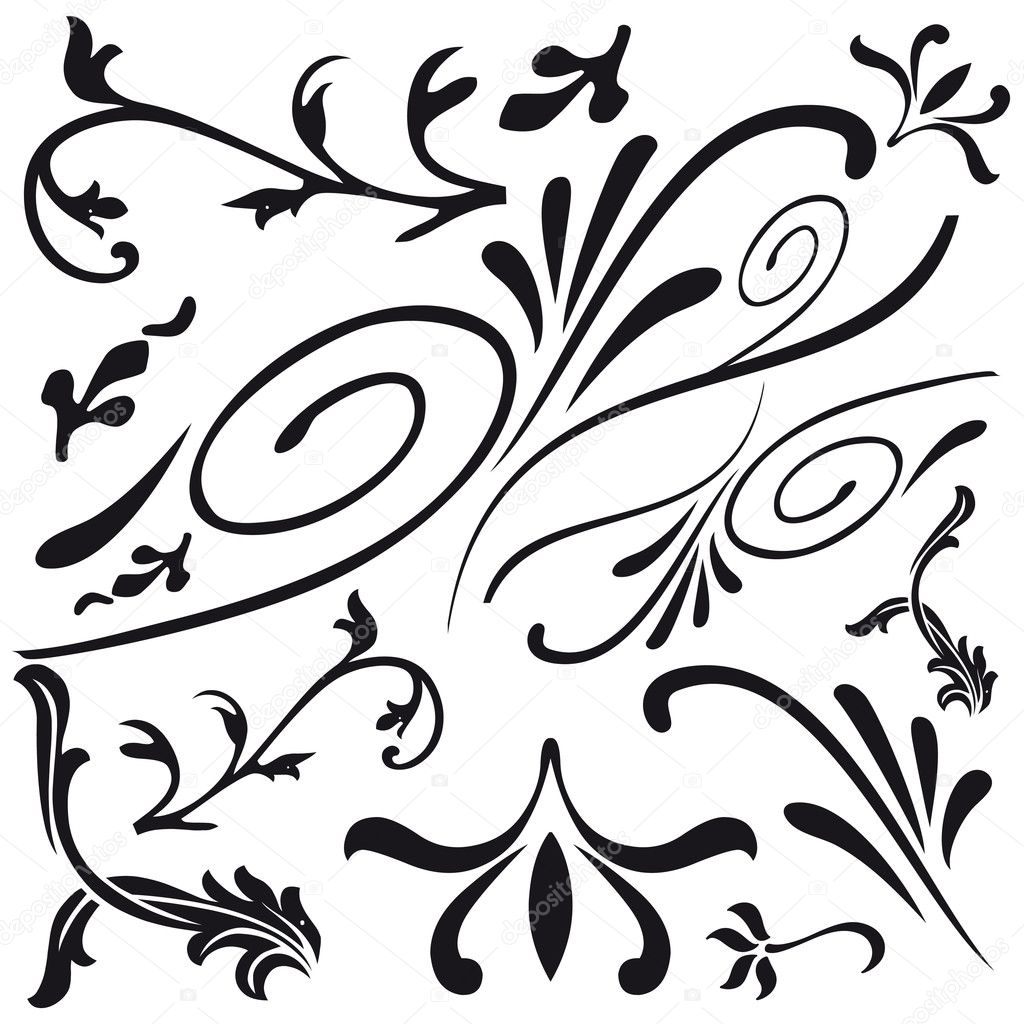 Leaf and flower design classical decorations