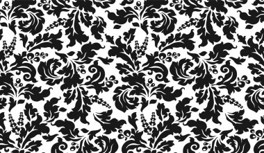 Black and white tapestry with flowers
