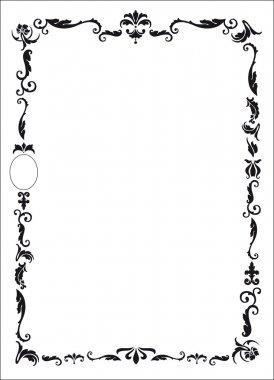 Design per cornice di attestato o diploma