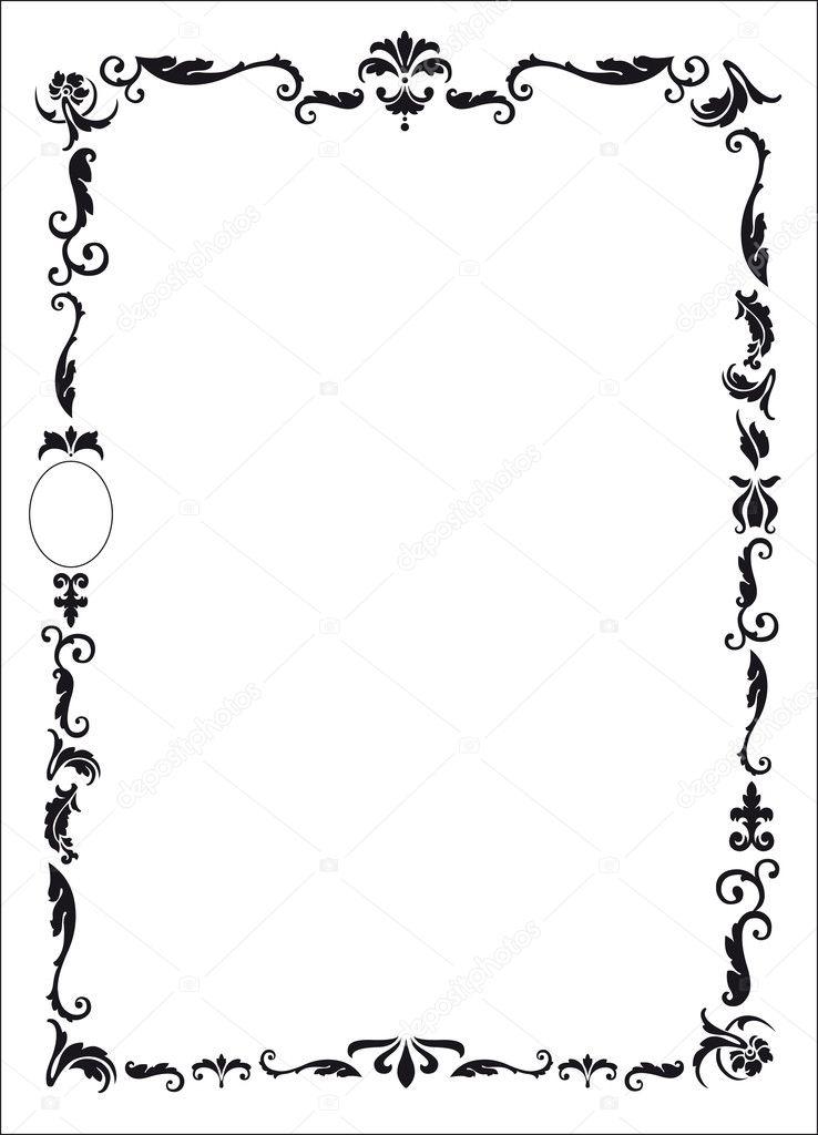 design per cornice di attestato o diploma stock vector  design base da personalizzare per cornice di attestato o diploma in nero vector by graphicjet