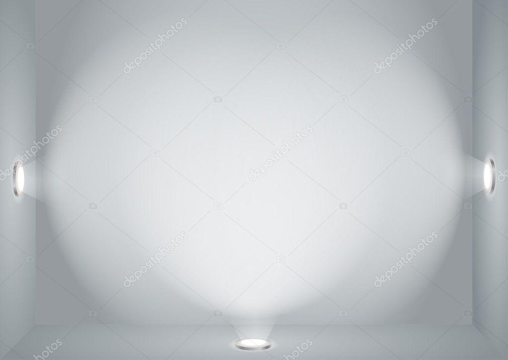 plantilla de pared vacío iluminado — Archivo Imágenes Vectoriales ...