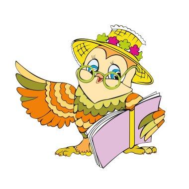 Owl reads