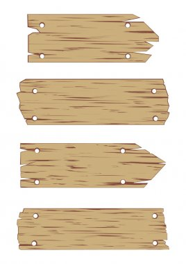 Wooden Sign Vector Set