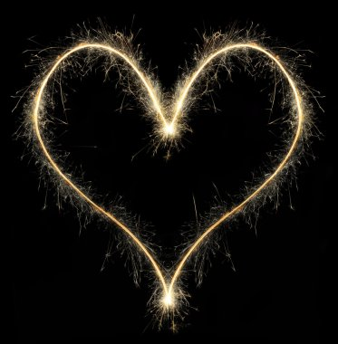 Heart from Christmas sparkler