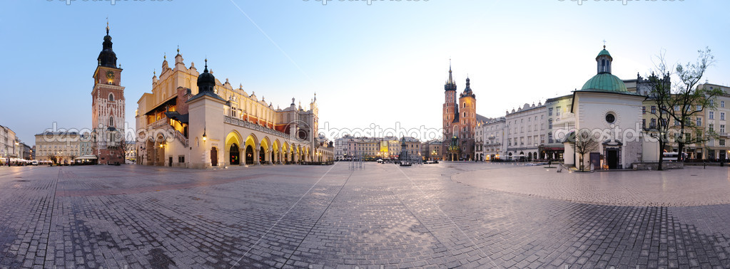 Фотообои City square in Kraków, Poland