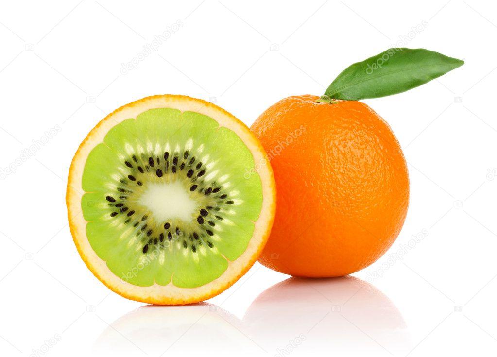 Creative conception of orange and