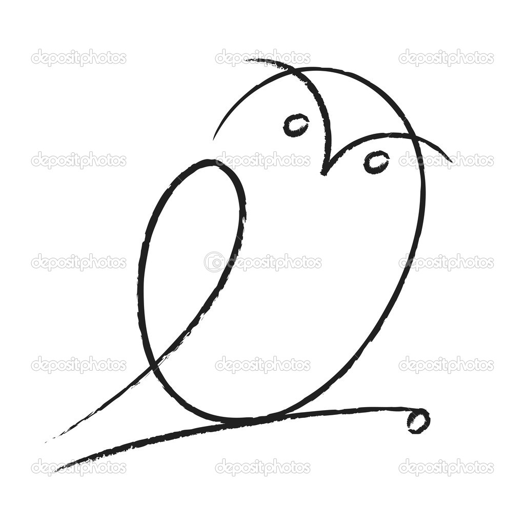 Cartoon illustration of owl