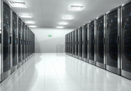 Photo for Modern interior of server room in datacenter - Royalty Free Image