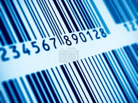Macro view of barcode