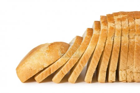 Photo for Sliced bread isolated on white background - Royalty Free Image
