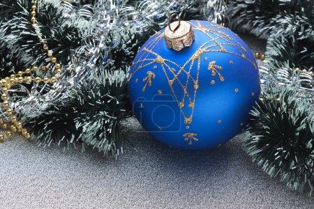 Christmas ball on Christmas background