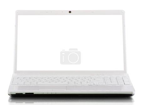 Photo pour Ordinateur portable isolé sur fond blanc - image libre de droit