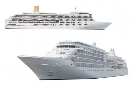 Photo pour L'image du navire océanique sous le fond blanc - image libre de droit