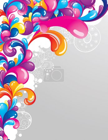 Illustration for Colorful background with space for your message - Royalty Free Image