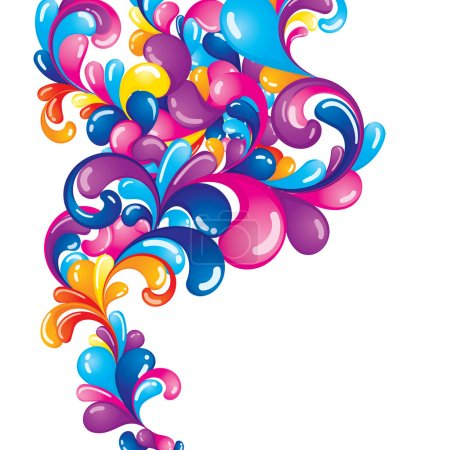 Illustration for Colorful composition with space for your message - Royalty Free Image