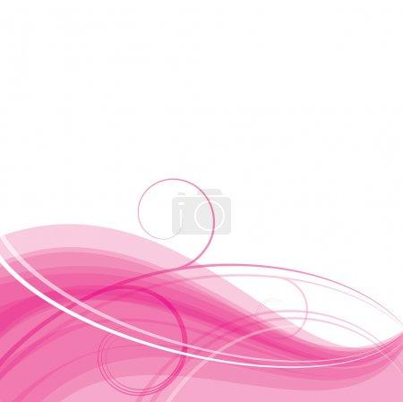 Pink floral wave