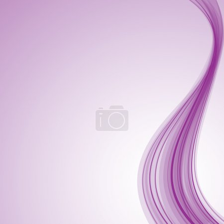 Illustration for Light purple silky wave background - Royalty Free Image