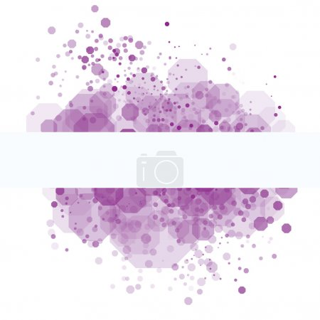Purple random transparent cells