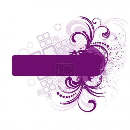 Purple frame with floral elements