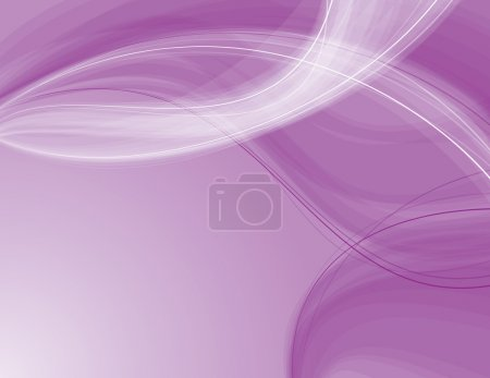 Illustration for Abstract purple and white transparent waves. - Royalty Free Image