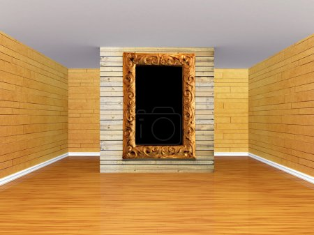 Empty room with ornate frame
