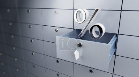 Opened empty bank deposit percent