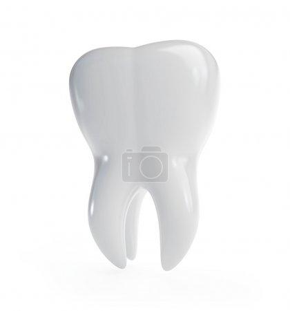 Photo pour La dent 3d est isolée sur un fond blanc - image libre de droit