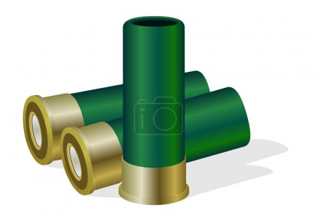 Illustration for Hunting ammunition. The illustration on a white background. - Royalty Free Image