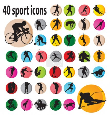 Illustration for Sport icons. Vector illustration for you design - Royalty Free Image