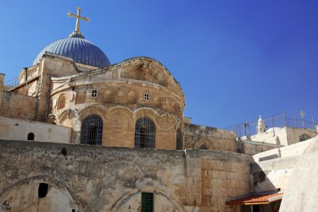 Dome on the Church of the Holy Sepulchre in Jerusalem