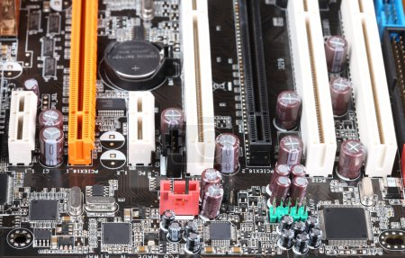 Photo for Close-up mother board. - Royalty Free Image