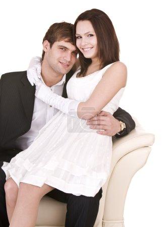 Photo pour Deux filles et un homme. Amour et passion . - image libre de droit