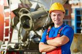 Generator-Arbeiter an der Baustelle