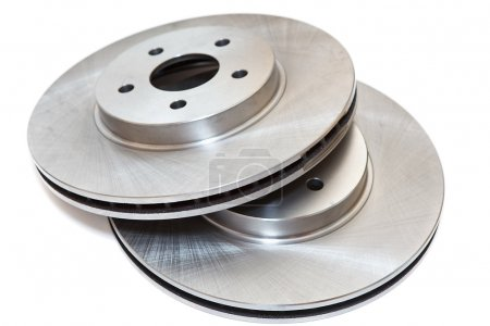 New brake disc isolated on white background