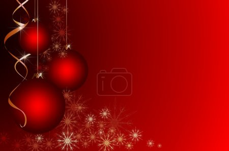 Red Christmas background with place for your text