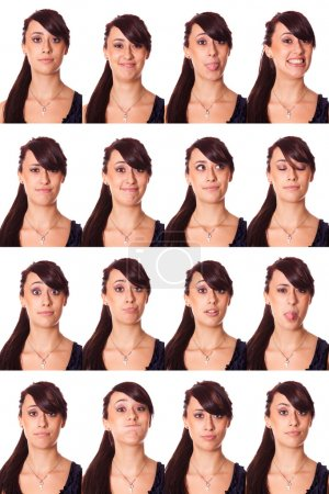 Teenage Girl Portrait, Collection of Expressions