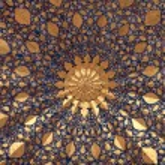 It is ceiling of Aksaray mausoleum, Samarkand, Uzb...