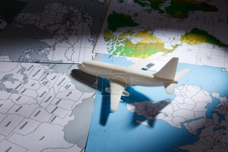 Airliner with a maps