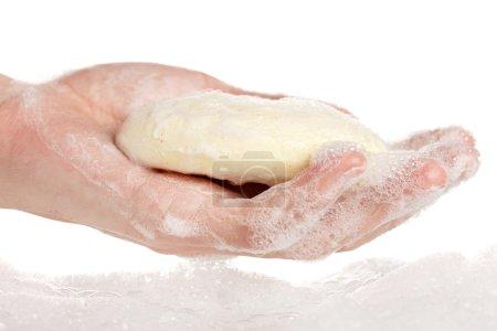 Washing hands...