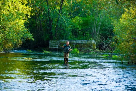 Fly Fisherman Fishing
