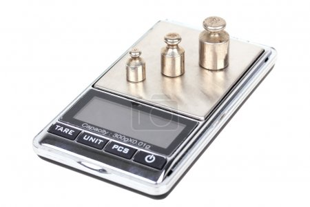 Digital scales with iron weights