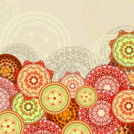 Illustration for Mandala background - Royalty Free Image