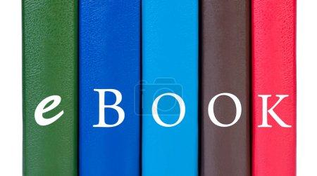 Photo pour Couvertures de livres avec word ebook . - image libre de droit